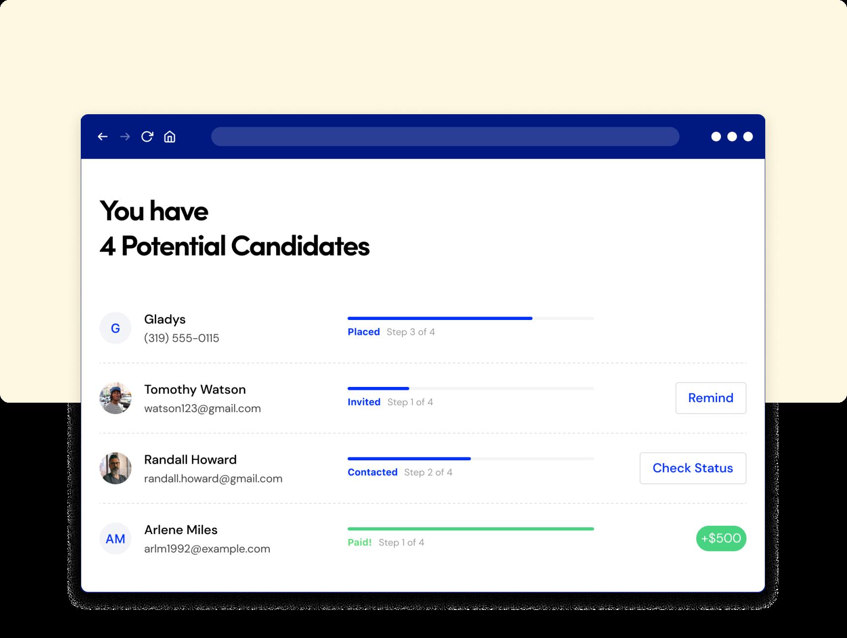 Arrangement-Candidates